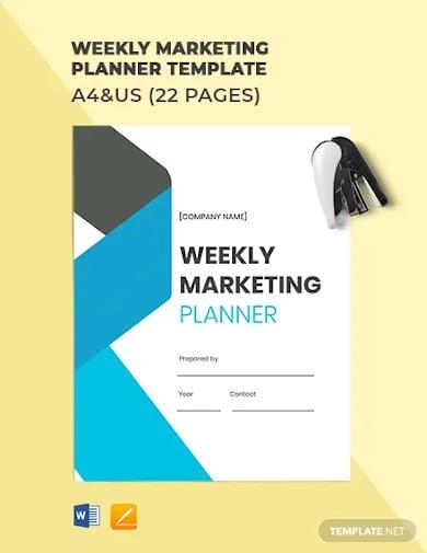 weekly marketing planner template