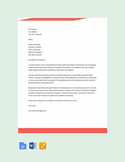12 Experience Letter Templates Pdf Doc Free Premium Templates