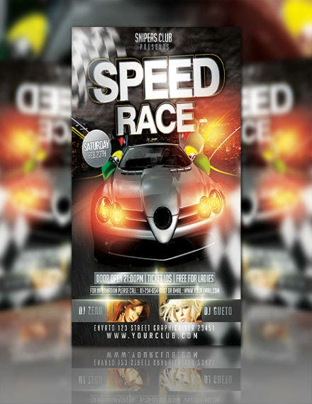 car speed race flyer