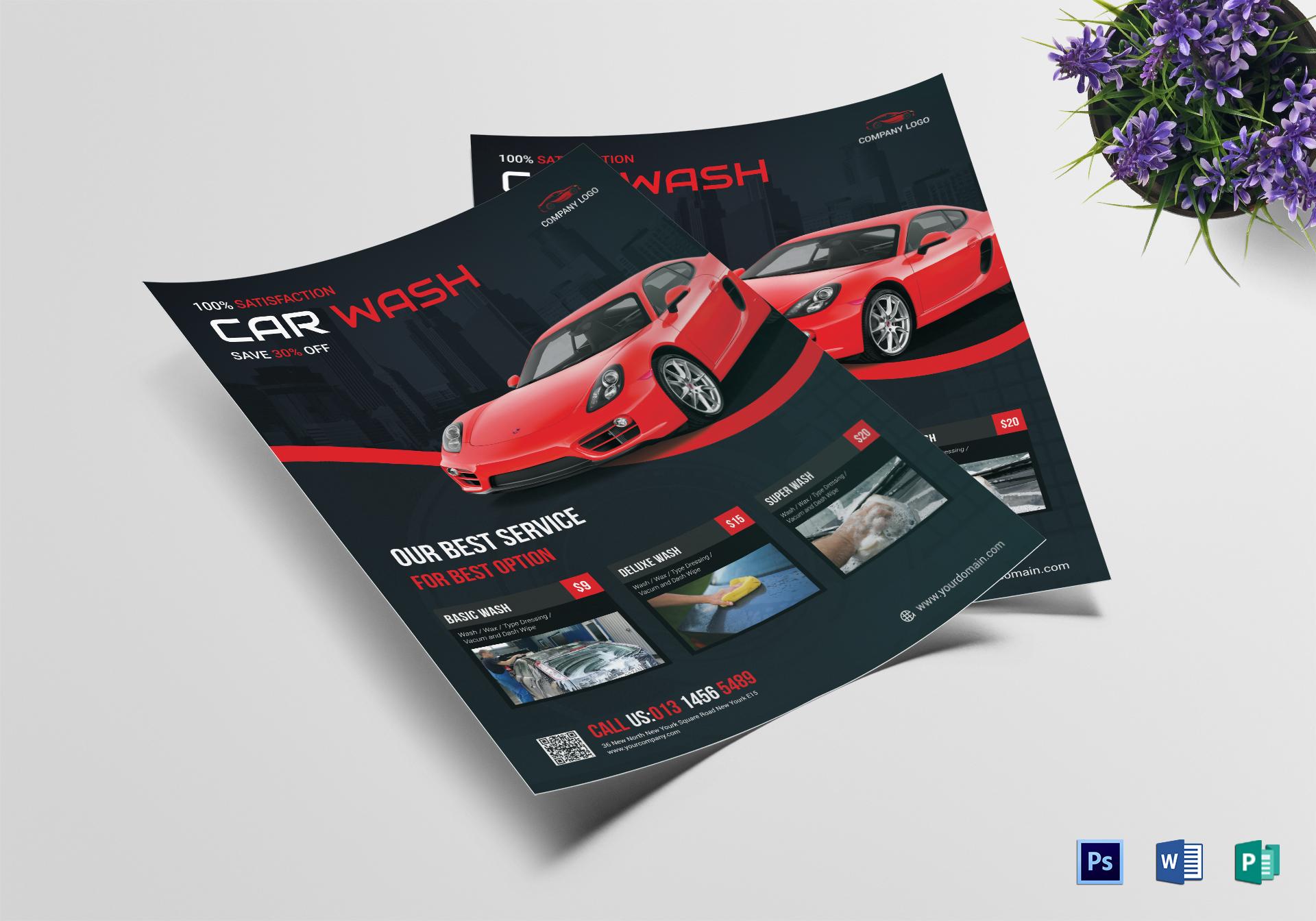 car wash flyer 14