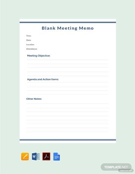 free blank meeting