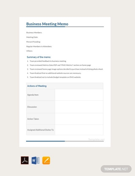 free business meeting