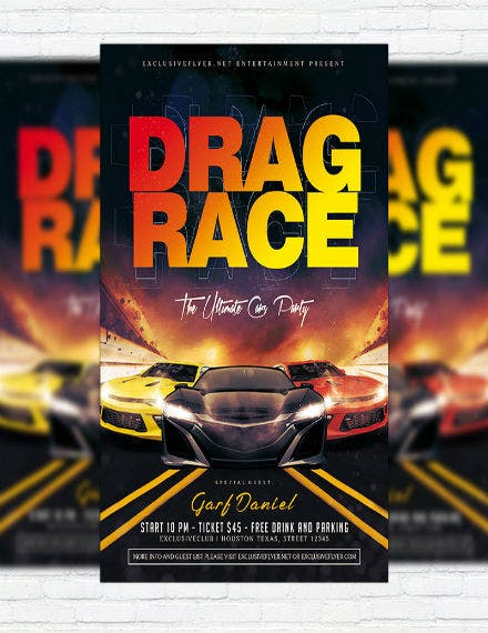 free car race flyer template