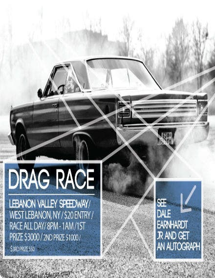 10 car racing flyer templates free premium templates