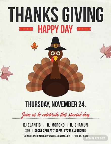 free happy thanksgiving flyer