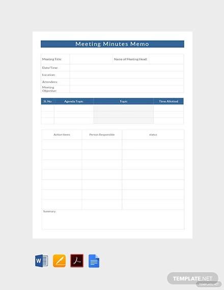 free meeting minutes