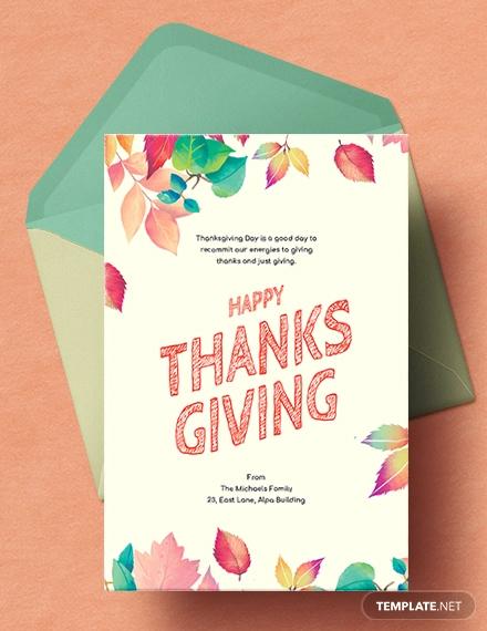 free thanksgiving card