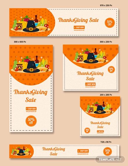 free thanksgiving sale banner