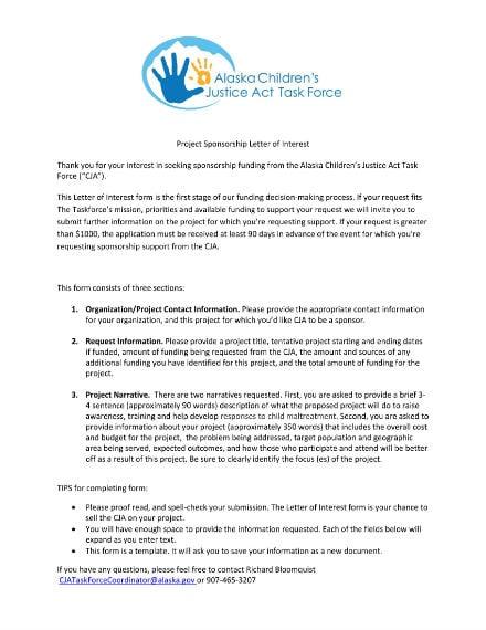 sponsorship letter of interest 1