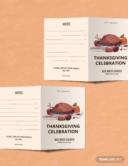 thanksgiving celebration brochure
