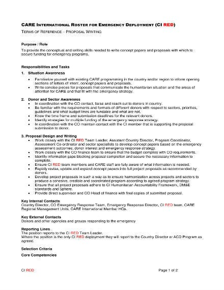 writing job proposal 1