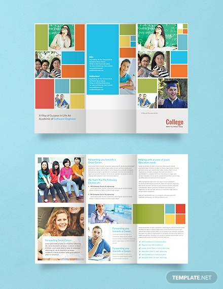 a3 college brochure template