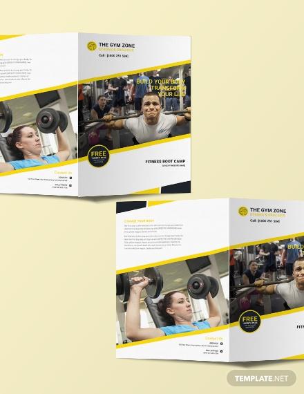 a4 gym bifold brochure sample