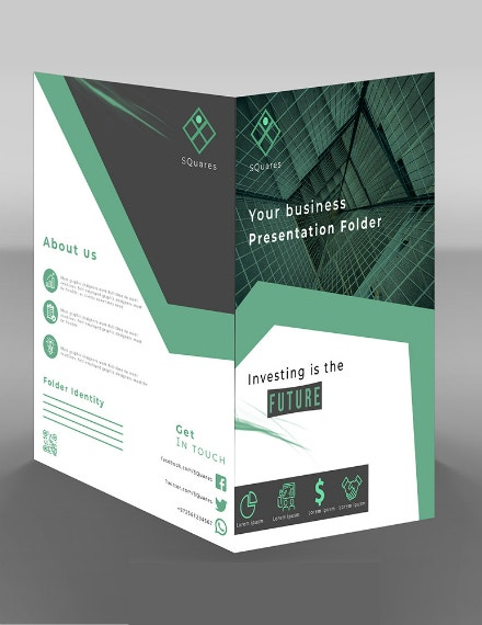 a4 squares bifold brochure layout
