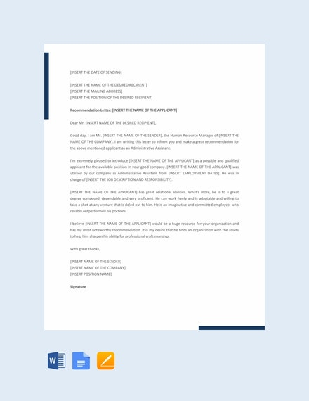 administrative reminder letter