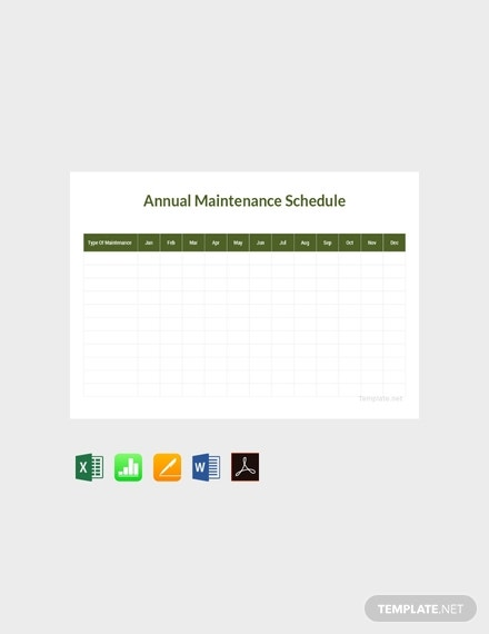 annual maintenance schedule