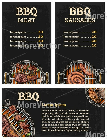 artistic bbq food menu format