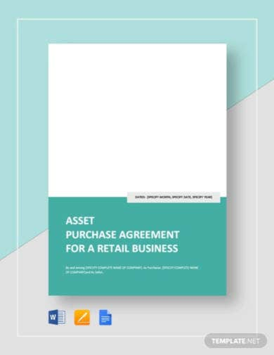 asset purchase agreement for a retail business