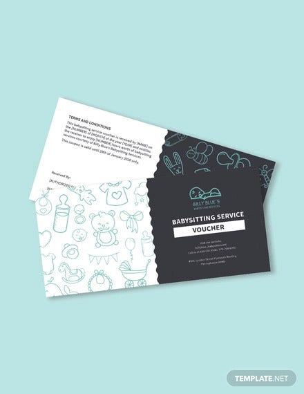 babysitting voucher template