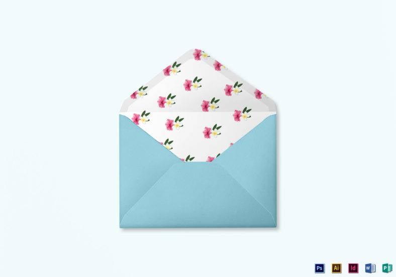 beach wedding envelope word template 788x552