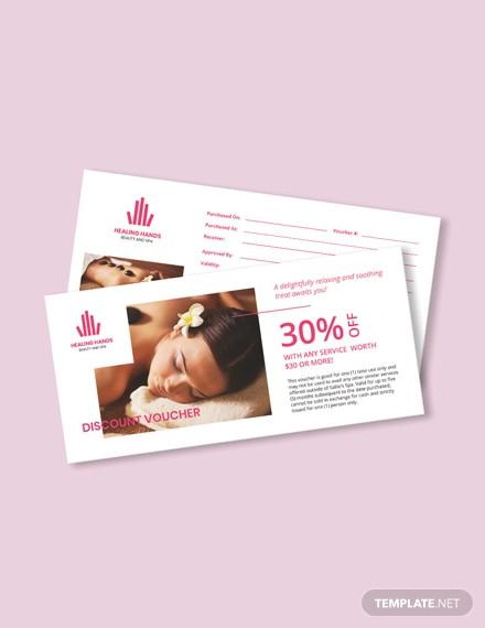 beauty spa voucher template