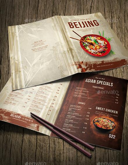beijing chinese food menu sample