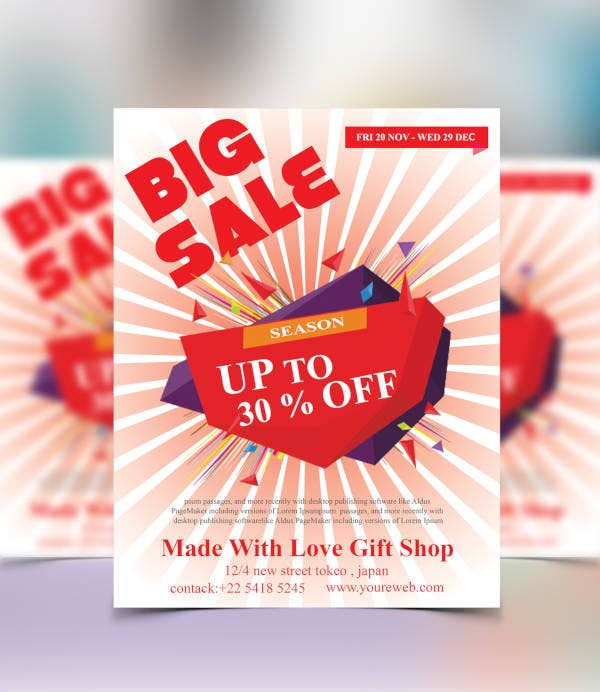 big sale offer flyer