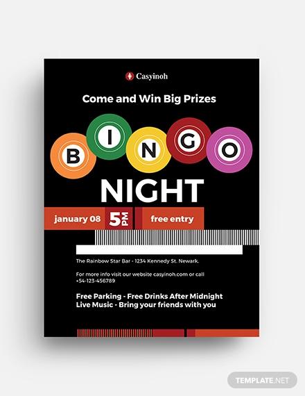 bingo flyer template in illustrator