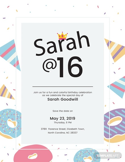birthday poster template in pages