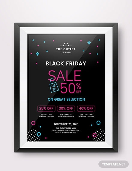 black friday promotional poster in apply pages