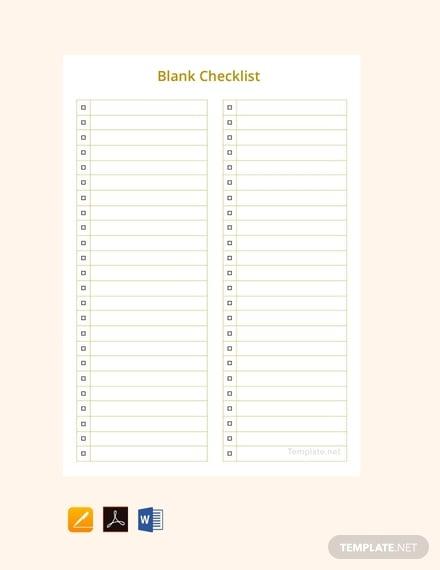 10 sample checklist templates in word free premium templates
