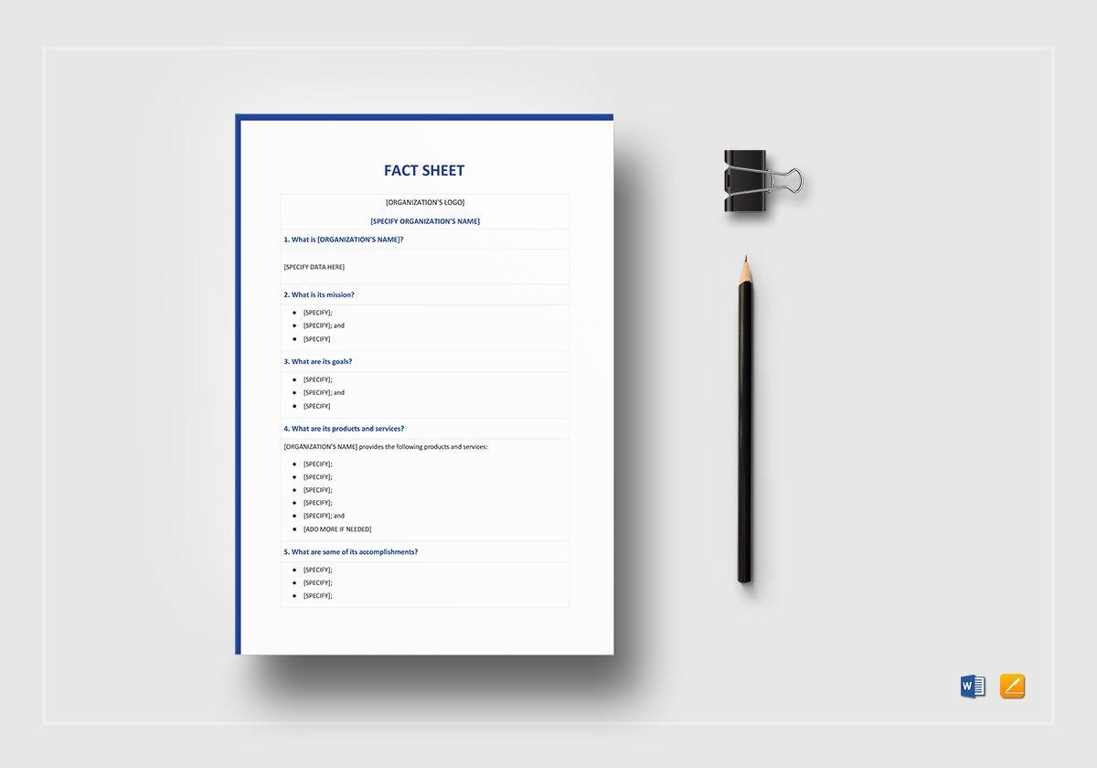 blank fact sheet template1