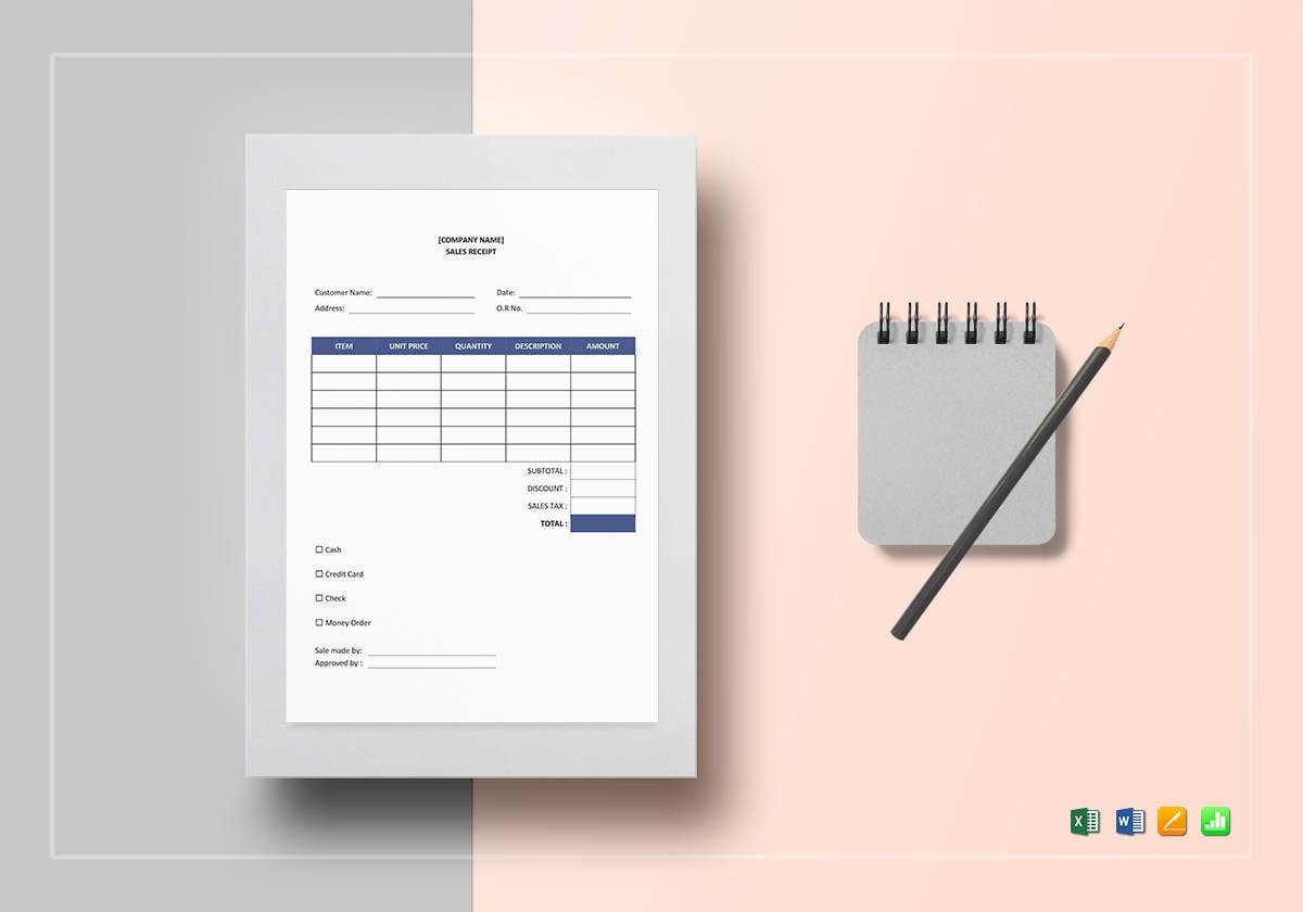 blank sales receipt template1