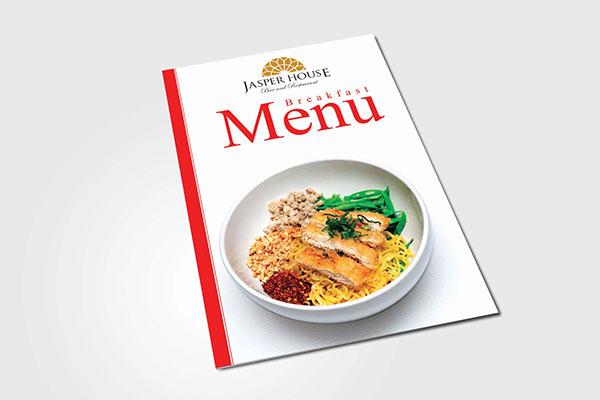 breakfast menu booklet sample