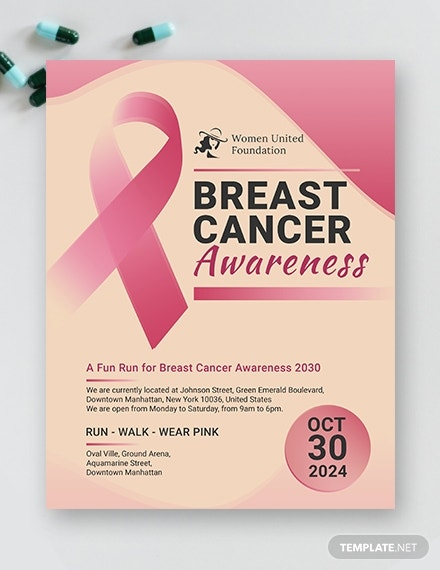 breast cancer flyer template in publisher
