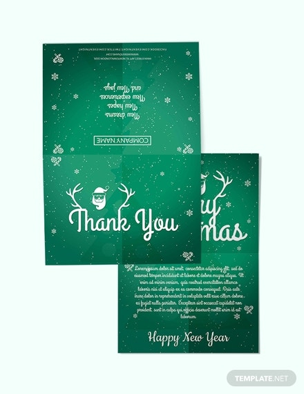 business christmas thank you card template