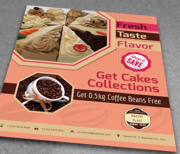 cake flyer example