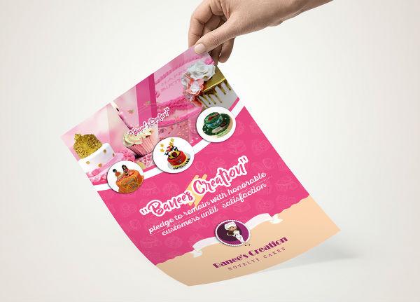 cake shop flyer sample