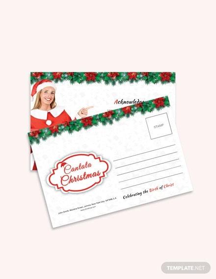 cantata christmas postcard template in publisher