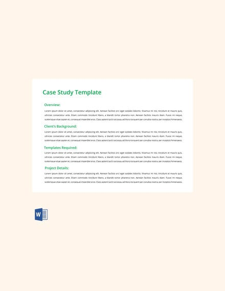 case study template free download