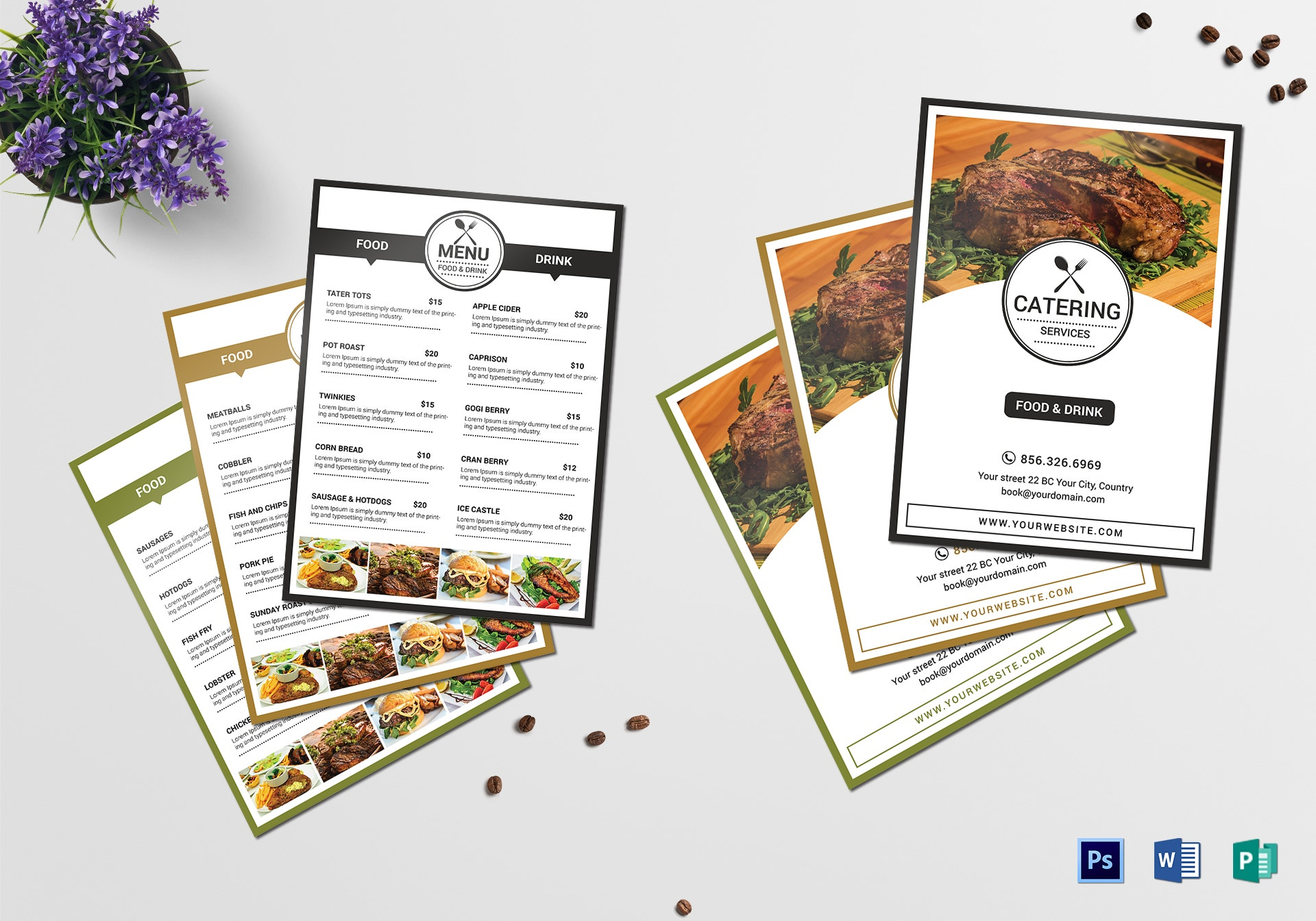 catering services food menu example