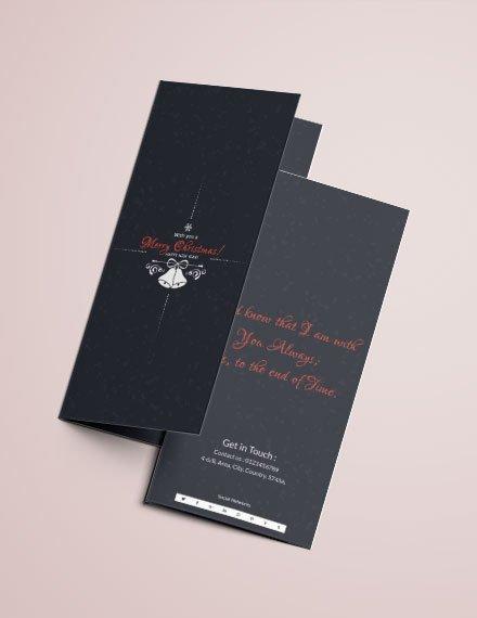 chalkboard christmas tri fold brochure template