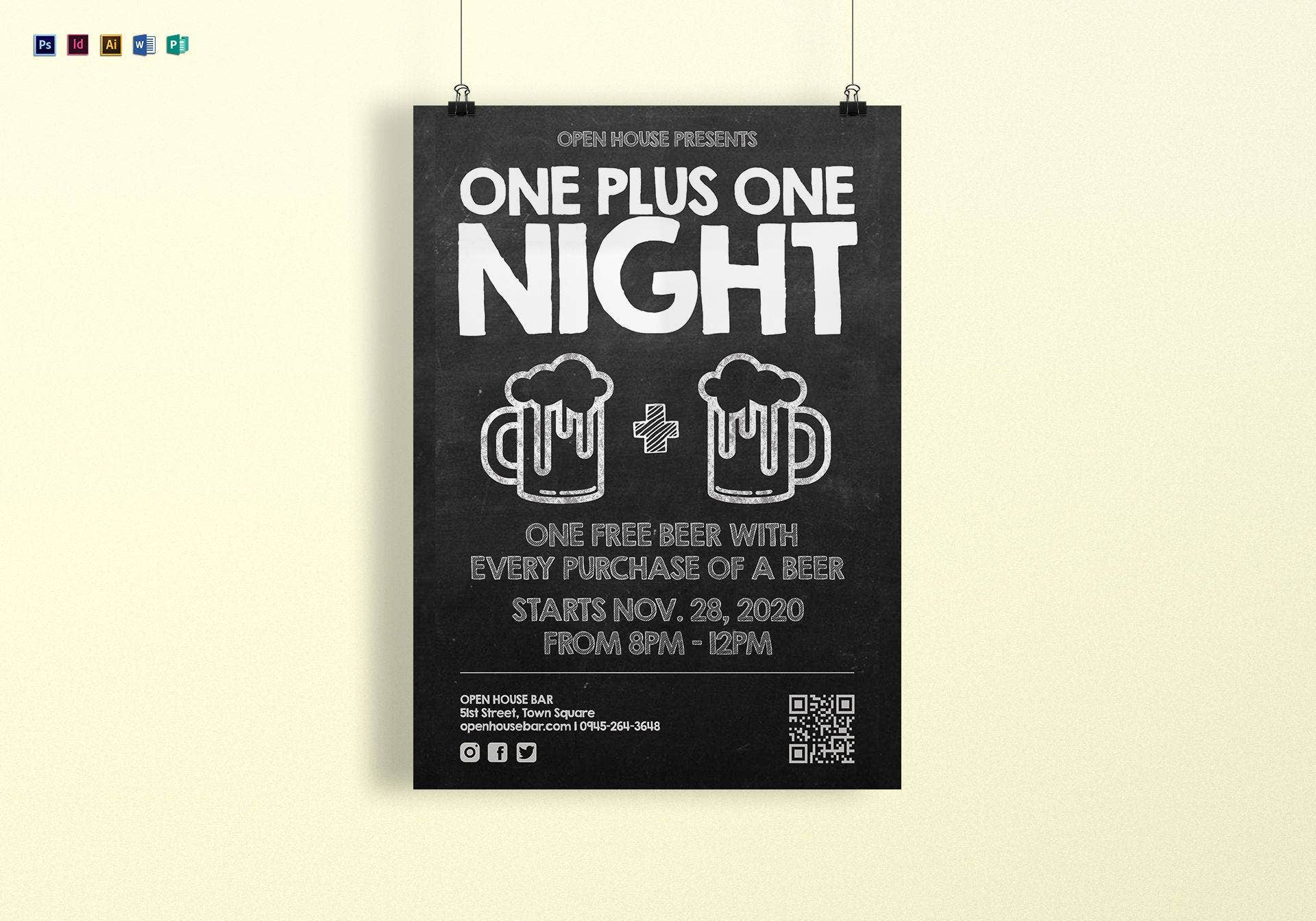 chalkboard poster template