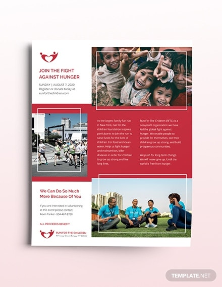 charity flyer template in illustrator