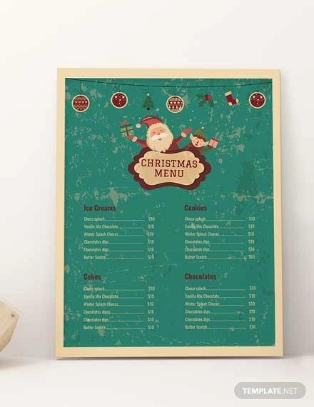 christmas bakery menu template1