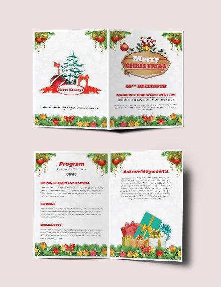 christmas bi fold brochure example