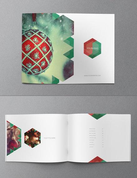 christmas brochure template sample