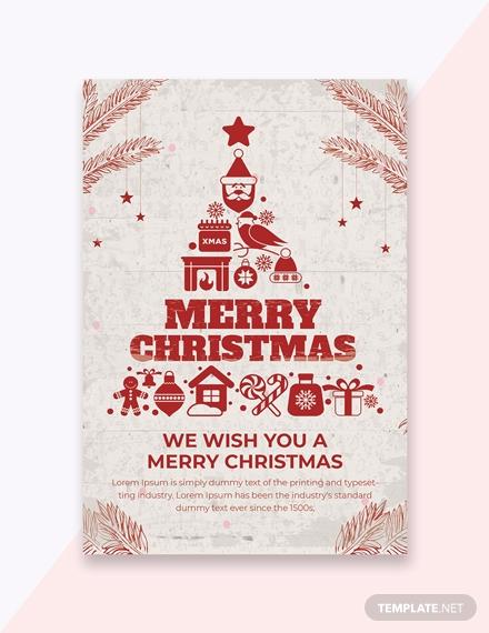 christmas greeting invitation card template1x