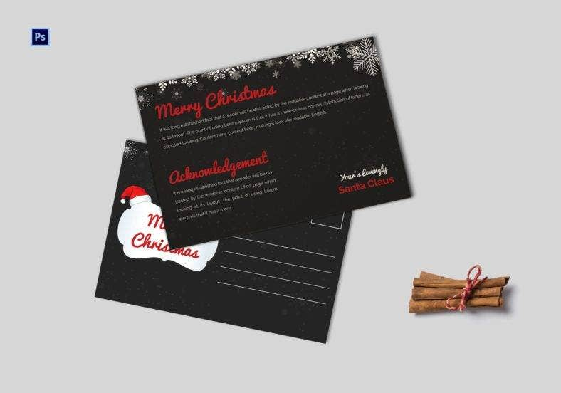 christmas postcard invitation template 788x552