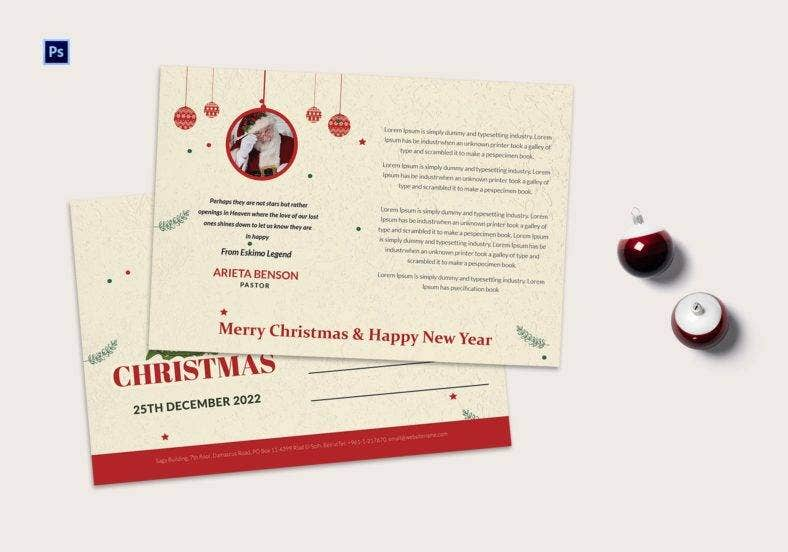 christmas tree postcard template 788x552